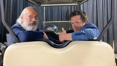 Christopher Lloyd and Michael J Fox