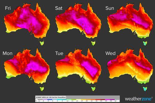 Heatwave to sweep Australia. November 26, 2020.
