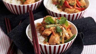 "Recipe: <a href=""http://kitchen.nine.com.au/2016/05/16/15/58/creamy-coconut-pork-curry"" target=""_top"">Creamy coconut pork curry</a>"