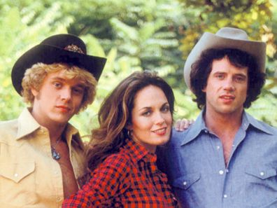 John Schneider, Catherine Bach and Tom Wopat from 'The Dukes of Hazzard'