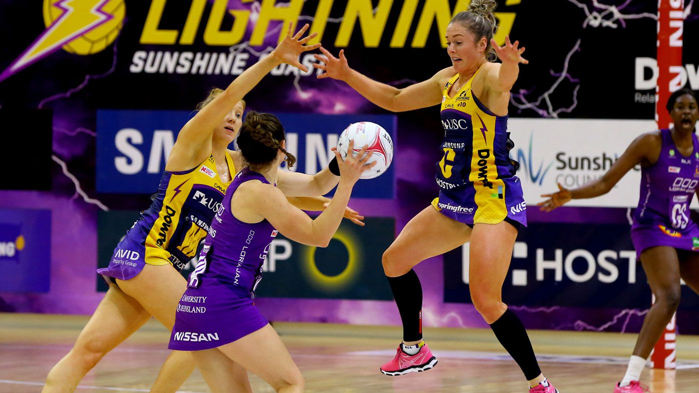Netball: Caitlin Bassett strikes for Sunshine Coast Lightning in late win over Queensland Firebirds