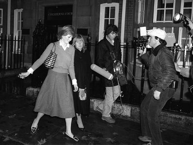 Lady Diana Spencer is hounded by the media at her flat in Coleherne Court in November 1980. (Photo by Alisdair Macdonald/Mirrorpix/Getty Images)