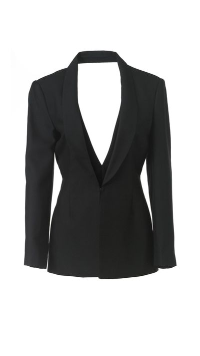 "<a href=""http://www.gluestore.com.au/cameo-begin-again-cut-out-boyfriend-blazer-in-black.html"" target=""_blank"">Begin Again Blazer, $189.95, Cameo</a>"