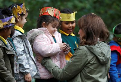 Kate Middleton at Croft Forest School at Paddington Recreation Ground in London,  October 2018