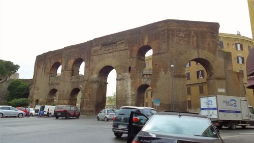 Only two-thirds of Rome's ancient walls, built in 271AD, remain standing today. Picture: 9NEWS
