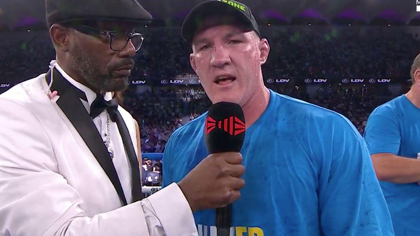Paul Gallen calls out Robert Whittaker after Mark Hunt triumph