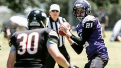 Shaun played gridiron for the Bayside Ravens (9NEWS)