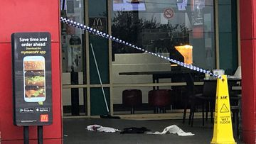 Stabbed man stumbles to McDonald's after frenzied attack