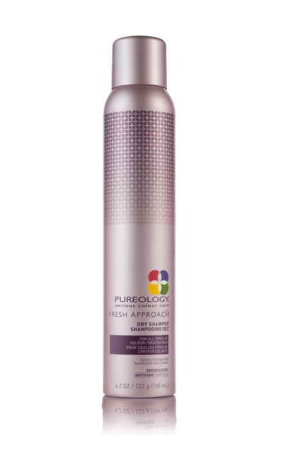 "<a href=""http://www.pureology.com/"" target=""_blank"">Fresh Approach Dry Shampoo, $32.95, Pureology</a>&nbsp;"