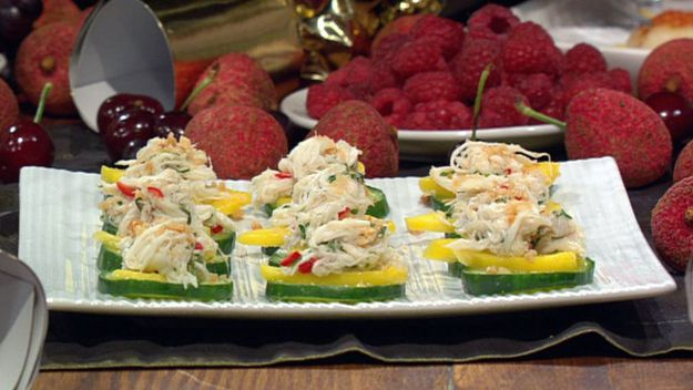 Herbed asian crab salad