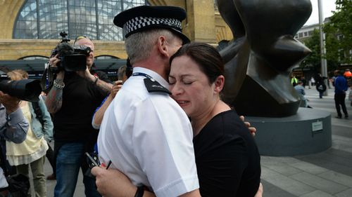 Gill Hicks visits London bombings station