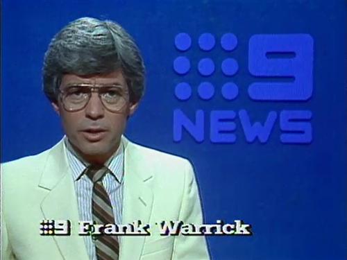 Queensland newsreader Frank Warrick dies