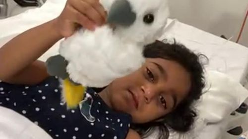 Tharnicaa is the youngest member of the family who was deported from Biloela amid an immigration row.