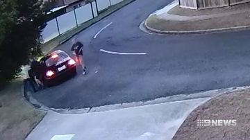 CCTV showed three men get out of a black sedan before they broke in and terrorised June McConnell at home.