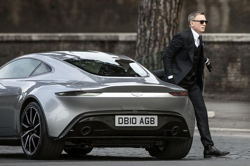 The Aston Martin was originally developed for the 007 film Spectre.