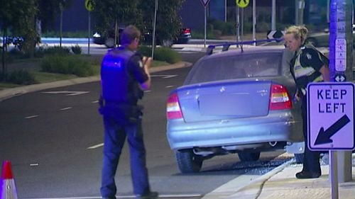 The man was struck by a Holden Astra. (9NEWS)