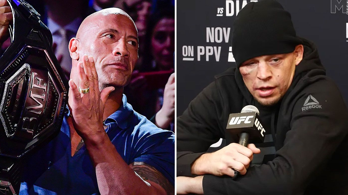 Dwayne 'The Rock' Johnson responds to sledging he copped from Nate Diaz