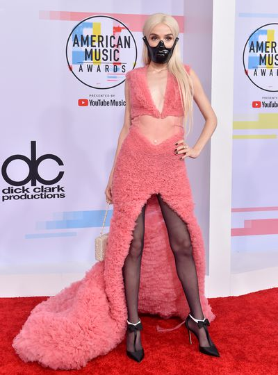 Poppy attends the 2018 American Music Awards at Microsoft Theater on October 9, 2018 in Los Angeles
