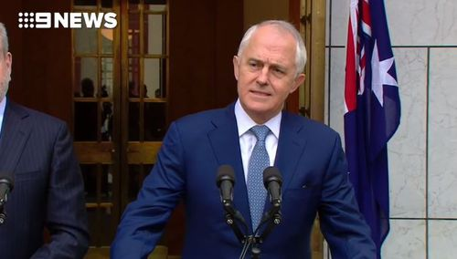 The prime minister spoke about the church controversy this morning in Canberra.