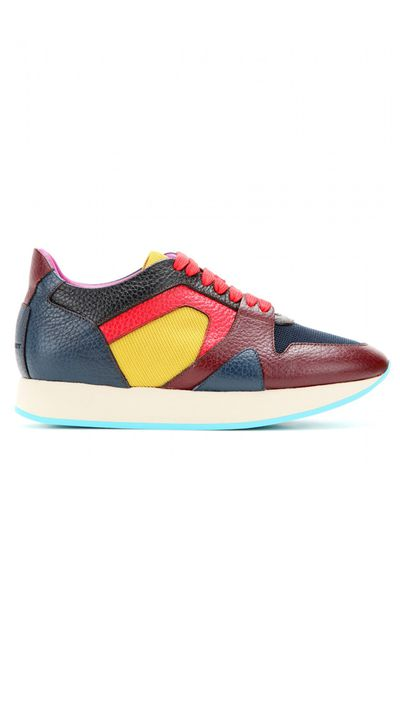 """<a href=""""http://www.mytheresa.com/en-au/the-field-leather-sneakers.html"""" target=""""_blank"""">Sneakers, $845, Burberry Prorsum at mytheresa.com</a>"""
