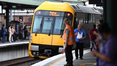 A Sydney teenager was charged and will front court after forcing his way into a CBD train driver's cabin while armed with a gun. Picture: AAP.