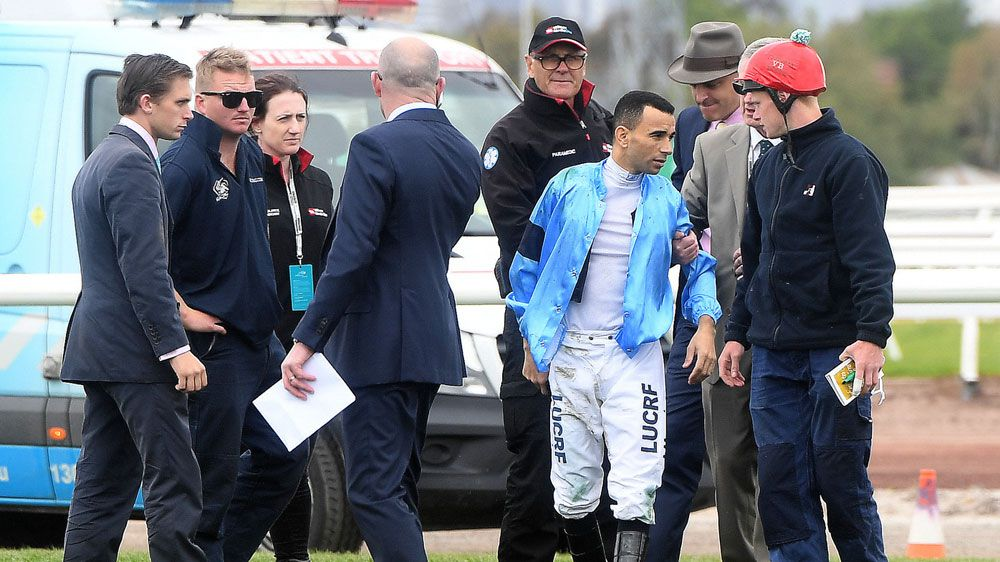 Melbourne Cup 2017: Jockey Joao Moreira ruled out of riding Thomas Hobson after suffering heavy fall in Race Four