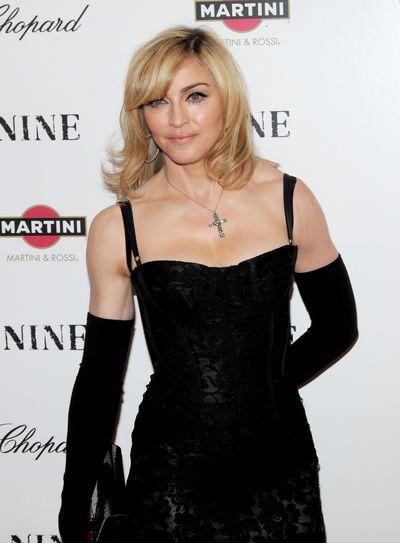 Madonna inDolce & Gabbana at the premiere of <em>Nine </em>in New York City, December 15, 2009