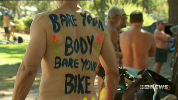 VIDEO: Melbourne cyclists raise awareness for dangers on the road by riding naked