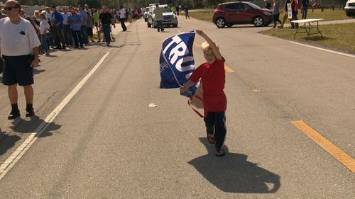 A young Trump fan. (Laura Turner/9NEWS)