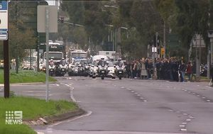 Hundreds line streets to farewell fallen police officer