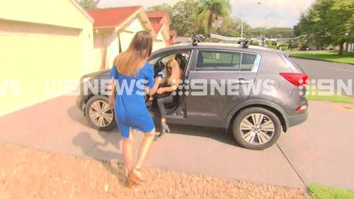 Ms Taylor outside her Wamberal home. (9NEWS)