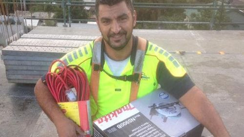 Mohamad Riche has been identifed as a the construction worker who died after falling five storeys on site in western Sydney