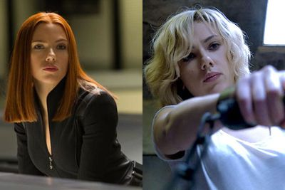<b>US$17 million</b><br/><br/>The box office success of blockbuster <i>Captain America: The Winter Soldier</i> meant that Scar-Jo got to embrace more indie flicks (<i>Under the Skin</i>, <i>Her</i> and <i>Don Jon</i>) in 2013 without breaking the bank. But <i>Lucy</i>'s success in 2014 is sure to catapult her to the top of the list next year.<br/><br/>Left: <i>Captain America: The Winter Soldier</i> / Disney. Right: <i>Lucy</i> / Universal Pictures.