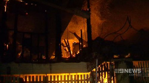 The house was gutted in the blaze. (9NEWS)