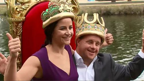 Melbourne Cup winning jockey Michelle Payne and strapper brother Stevie crowned Moomba monarchs