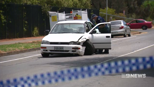 "A court has heard an innocent motorist was murdered after his car ""nudged"" the killer's vehicle at a busy intersection in Adelaide's north."