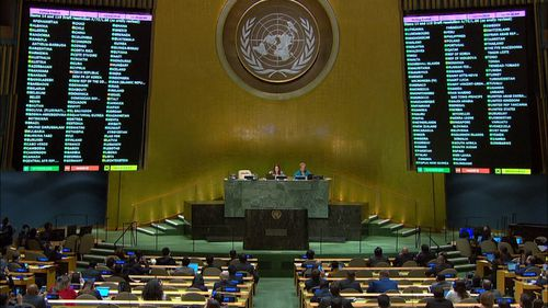 Austria, Switzerland, Italy and Bulgaria joined Australia in abstention.