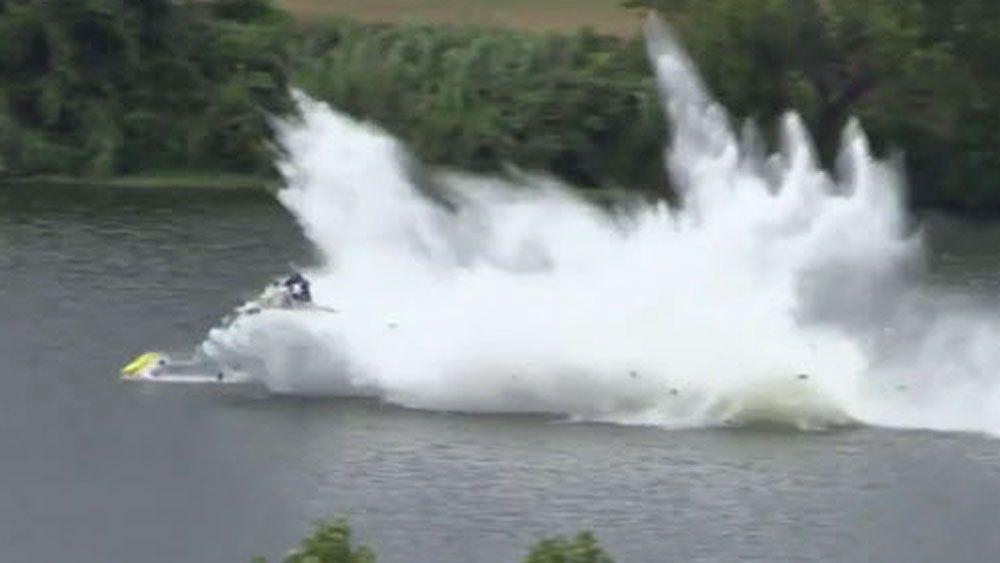 Driver survives terrifying 400kmh disintegration of boat