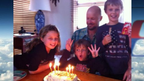 Perth children Mo, Evie and Otis Maslin, who were on board MH17, at a family birthday.