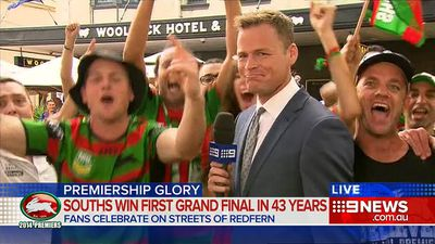 Tom Steinfort was simply trying to do his job last night when one over-excited and most probably intoxicated South Sydney Rabbitohs fan decided to show just how much of a good time he was having.<br> The 9NEWS reporter stayed composed as the flasher pulled down his pants and flashed the millions watching the live cross in the opening story of the national bulletin.<br> Click through to see the list of TV reporters Steinfort joins in being caught out on the job – including some even from the same office, like Sarah Harris' unexpected interruption by Princess Mary and Matt Snelson's Grand Final report hilariously-derailed by wild Bulldogs fans.
