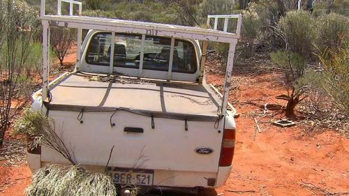 Mr Potter's ute was found bogged.