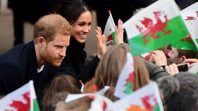 Prince Harry and Meghan Markle meet junior namesakes