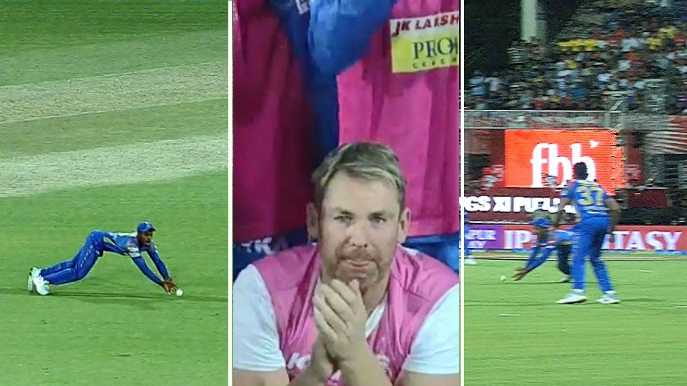 Confusion reigns after Rajasthan Royals Sanju Sampson claims a catch against Kings XI Punjab in the IPL