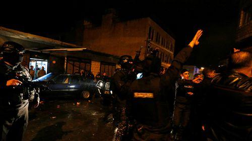 Police officers gather in Karak, Jordan. (Reuters / Muhammad Hamed)