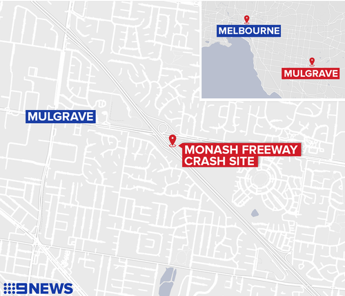 Melbourne Monash freeway crash