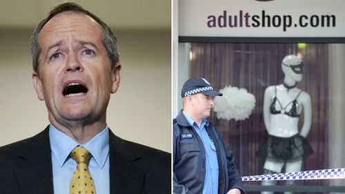 Bandit robs Perth adult shop while Bill Shorten campaigns nearby