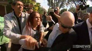 Violence erupts after court appearance of Lynette Daley's accused killer