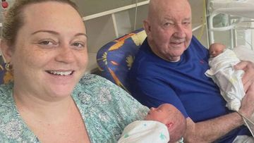 Couple with 39-year age gap welcome twins after six-year IVF battle