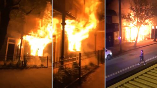 Emergency services have praised the heroic actions of a neighbour, who helped rescue three people from a burning home in Newcastle.