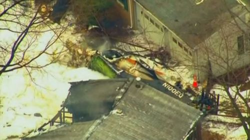 A plane crashed into a home in Maryland, killing three people. (Picture: Supplied)